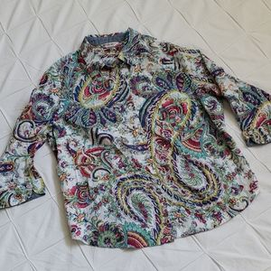 Allison Daley Paisley 3/4 Sleeve Blouse